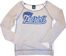 Load image into Gallery viewer, NFL Apparel Patriots Off-Shoulder Sweatshirt - Grey