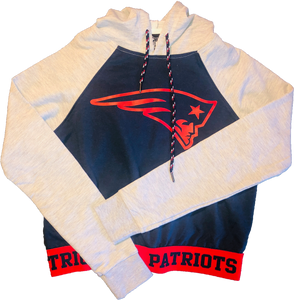 Rue21 Patriots Crop Hoodie - Navy Blue & Grey
