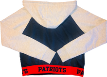 Load image into Gallery viewer, Rue21 Patriots Crop Hoodie - Navy Blue & Grey