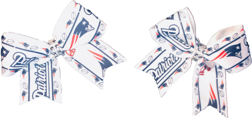 Patriots Hair Bows (Set of 2)