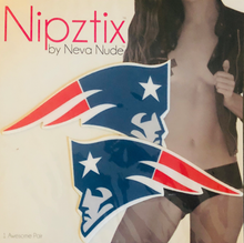 Load image into Gallery viewer, Neva Nude Nipztix Patriots Logo Pasties