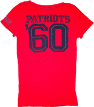 "Load image into Gallery viewer, Victoria's Secret PINK Patriots V-Neck ""Tailgate With Me"" Tee - Red"