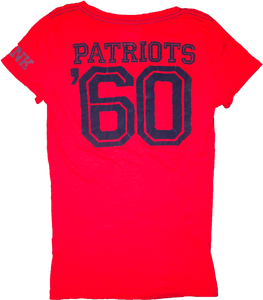 "Victoria's Secret PINK Patriots V-Neck ""Tailgate With Me"" Tee - Red"
