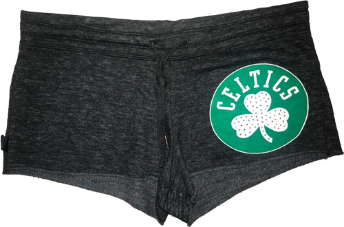 NBA4Her Celtics Booty Shorts - Heather Grey
