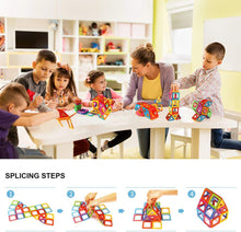 Load image into Gallery viewer, idoot Magnetic Tiles Building Blocks Set Educational Toys for Kids with Storage Bag - 64Pcs