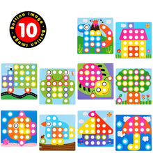Load image into Gallery viewer, Color Matching Mosaic Pegboard Early Learning Educational Toys for Boys and Girls