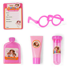 Load image into Gallery viewer, 10pcs Pink Doctor Kit Pretend and Play Medical Toys Set with Carry Case for Kids and Girls