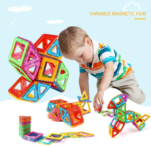 idoot Magnetic Tiles Building Blocks Set Educational Toys for Kids with Storage Bag - 64Pcs