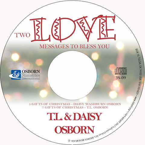 Two Love Messages to Bless You - Audio CD