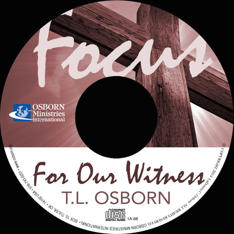 Focus For Our Witness - Audio CD