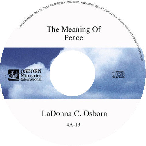 The Meaning of Peace - Audio CD