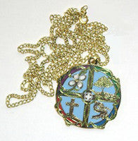 The Gospel Icon Pendant/Color with Chain