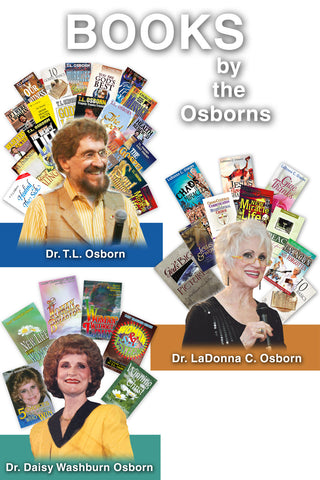 Complete Set of 35 Books by T.L. Osborn, Daisy Washburn-Osborn, and LaDonna C. Osborn