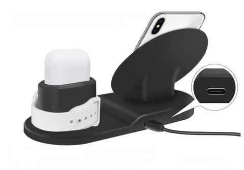 Wireless Charger Stand Station for iPhone, AirPods, and Apple Watch - easeable.com