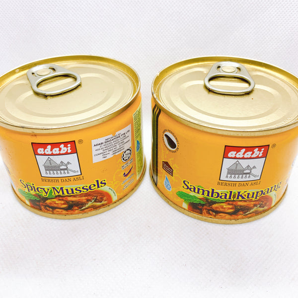 Promo - 2 cans x Adabi Spicy Mussels Sambal Kupang (160g)