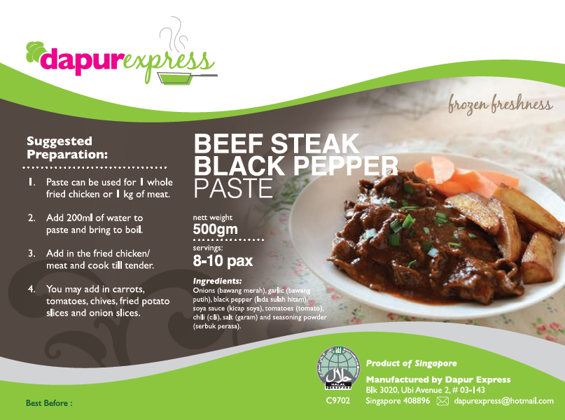 Dapur Express - Beef Steak Black Pepper (500g)