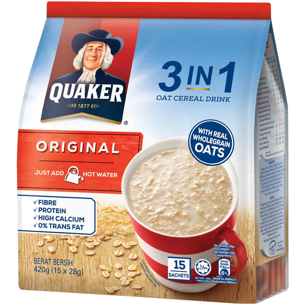 Quaker - Oat Original 3 In 1 Pack (420g)