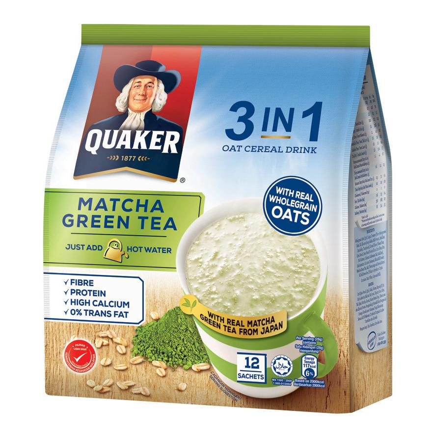 Quaker - Oat Matcha Green Tea 3 In 1 Pack (420g)