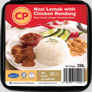 CP - Nasi Lemak with Chicken Rendang (250g)