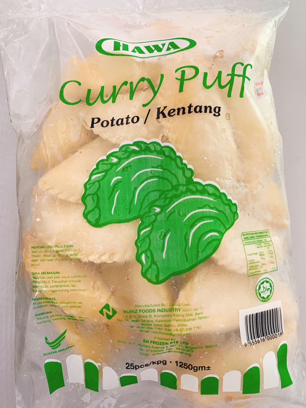 Hawa - Curry Puff Epok-epok Kentang (25pcs)
