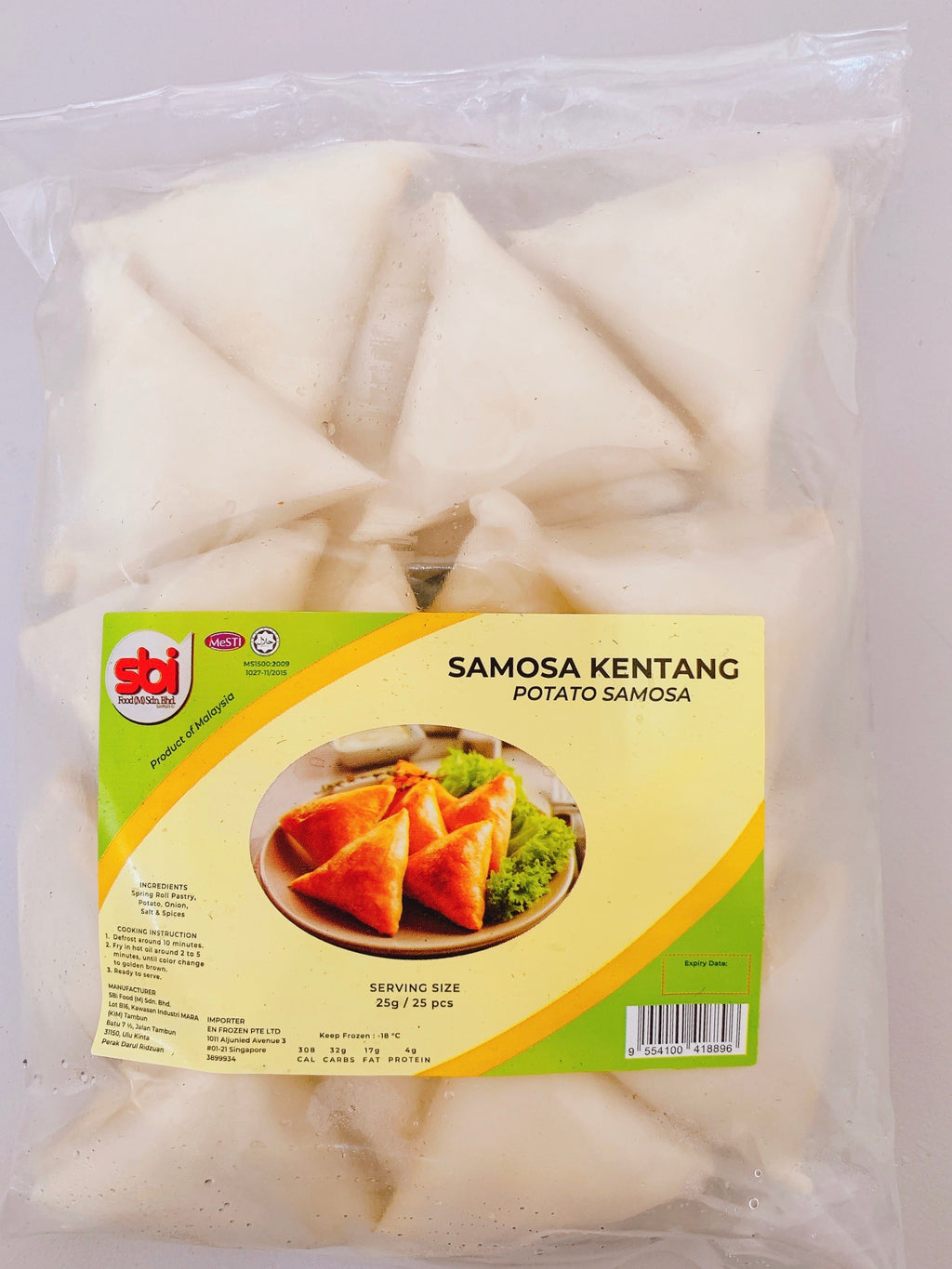 SBI - Samosa Potatoes Kentang (25 pcs)
