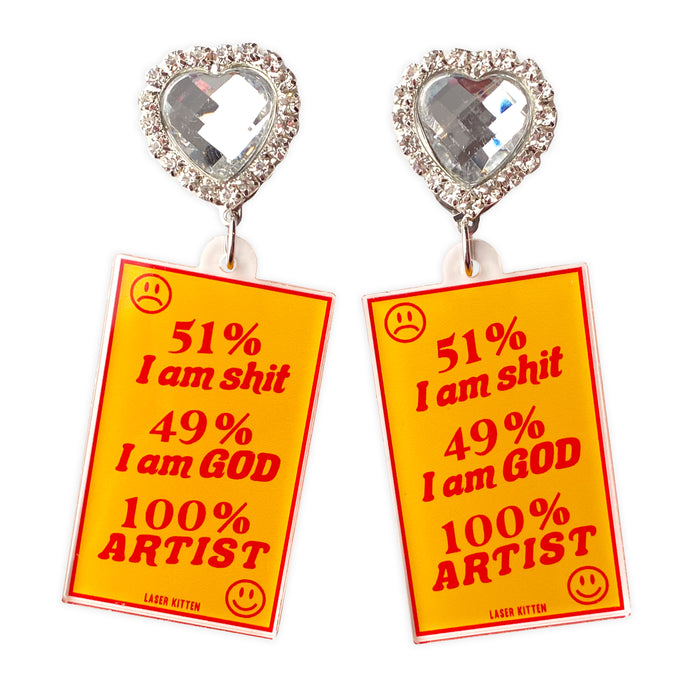 Egomaniac Charm Earrings
