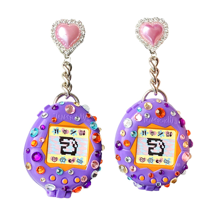 1997 Vintage Tamagotchi Charm Earrings