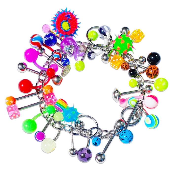Boy Crazy Piercing Flashback Charm Bracelet
