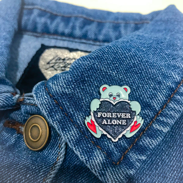 Forever Alone Bear Pin