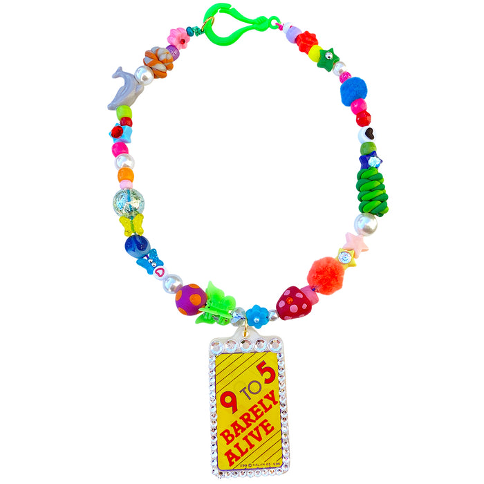 9-to-5 Beaded Charm Necklace