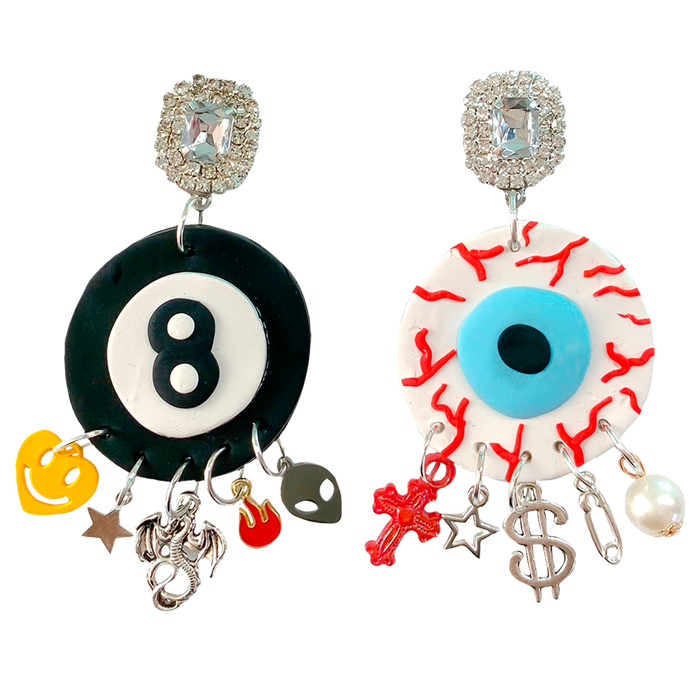 90s Baller Charm Earrings