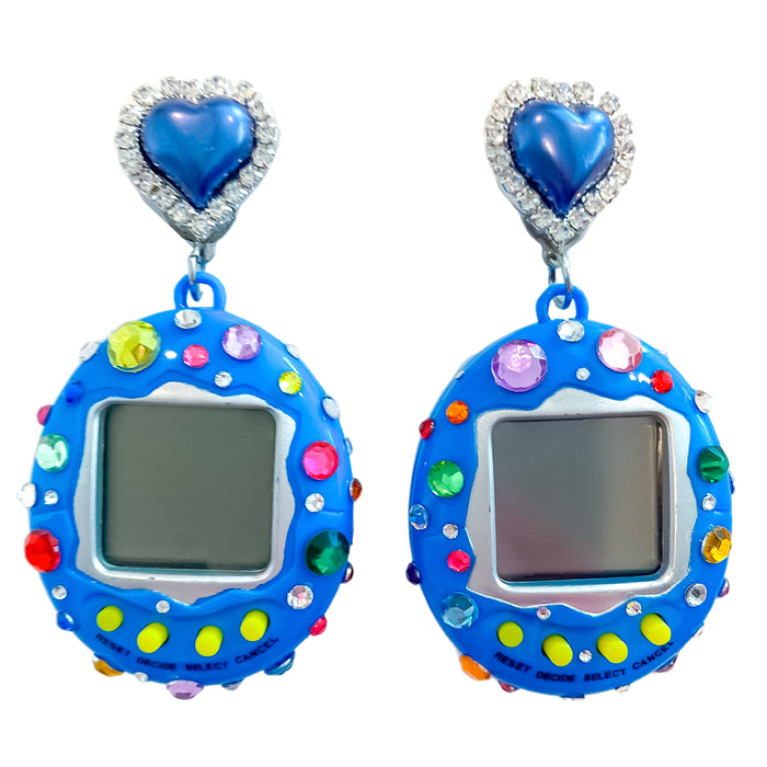 Bedazzled Digital Pet Earrings
