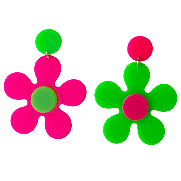 NEON Candy Girl Daisy Drop Earrings