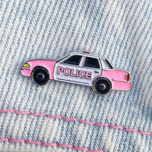 LK City Pink Cop Car Pin
