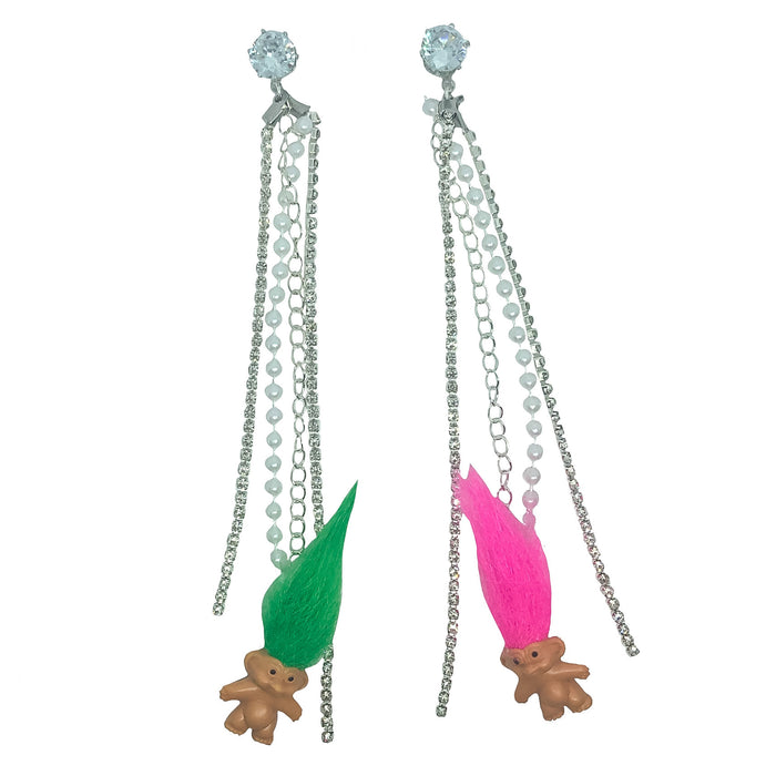 Trolls N' Rhinestones Charm Earrings (4418595323987)