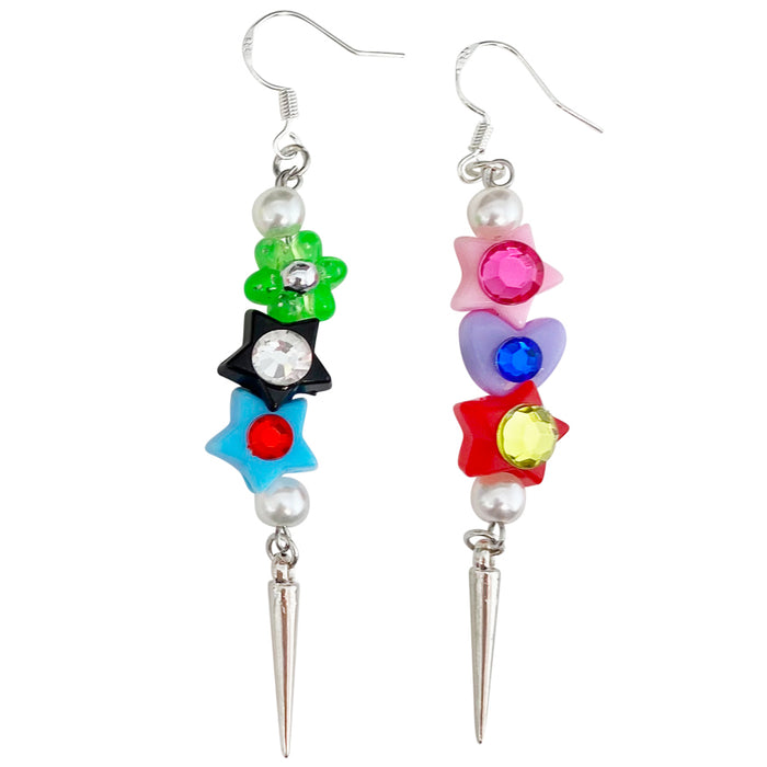 Pretty Punk Bedazzled Dangle Earrings
