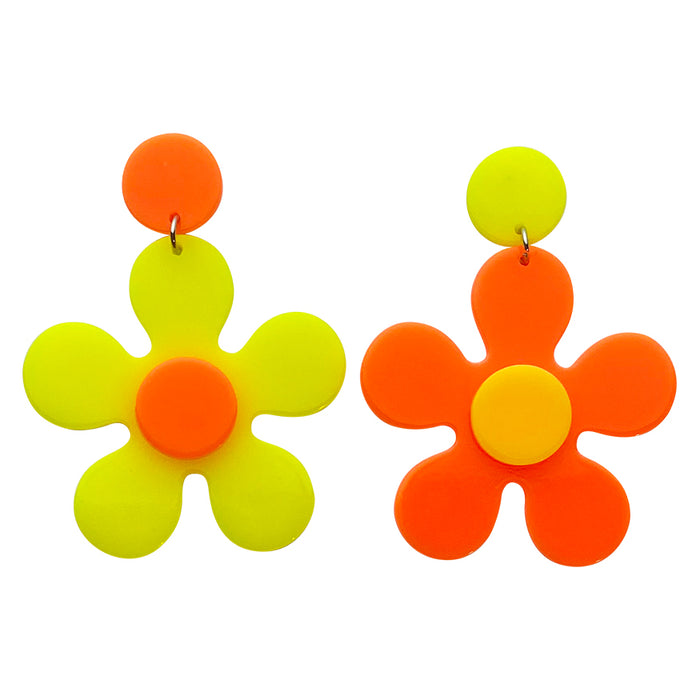 NEON Day Glow Daisy Drop Earrings
