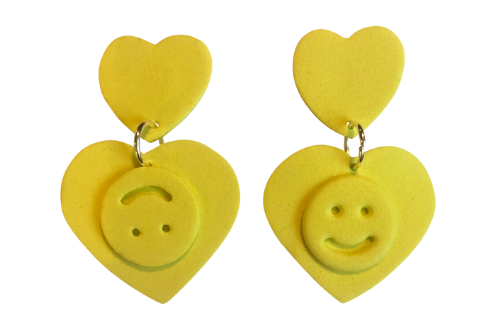 YELLOW DOUBLE HAPPINESS EARRINGS