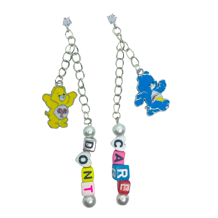 Don't Care Bear Charm Earrings (4418595094611)