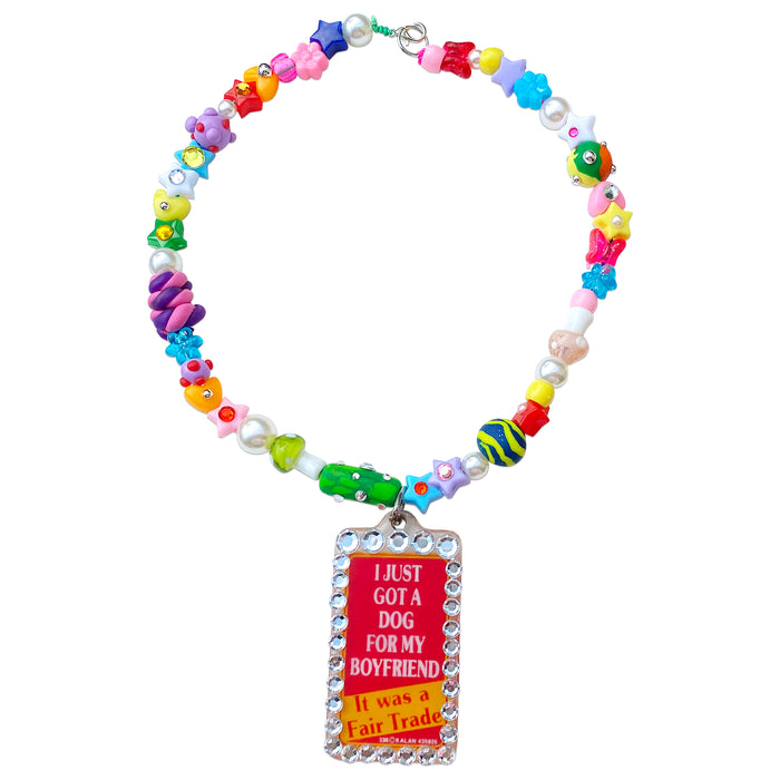 Fair Trade Beaded Vintage Charm Necklace