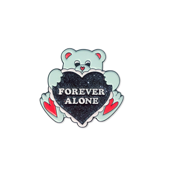 Forever Alone Bear Pin - Laser Kitten