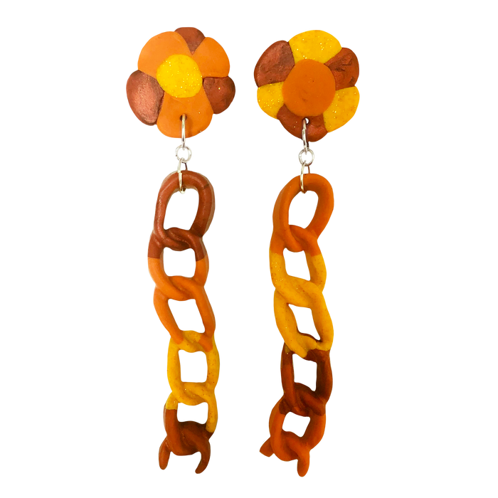 Golden Sunrise Off The Chain Earrings