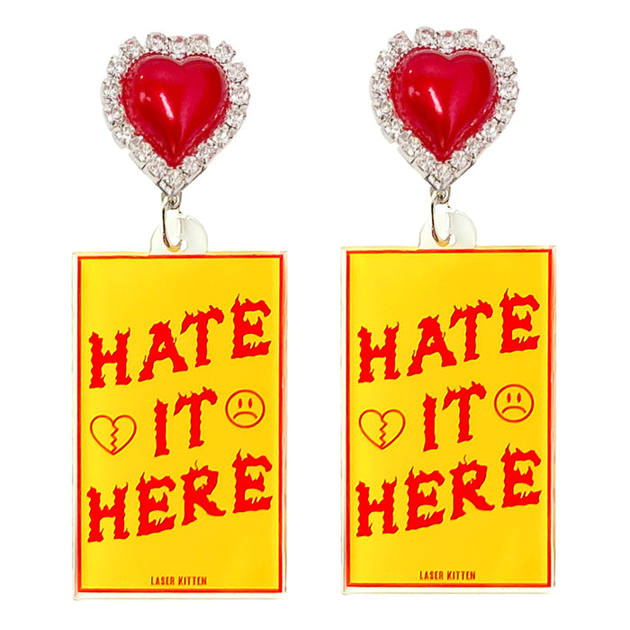 Hate It Here Charm Earrings