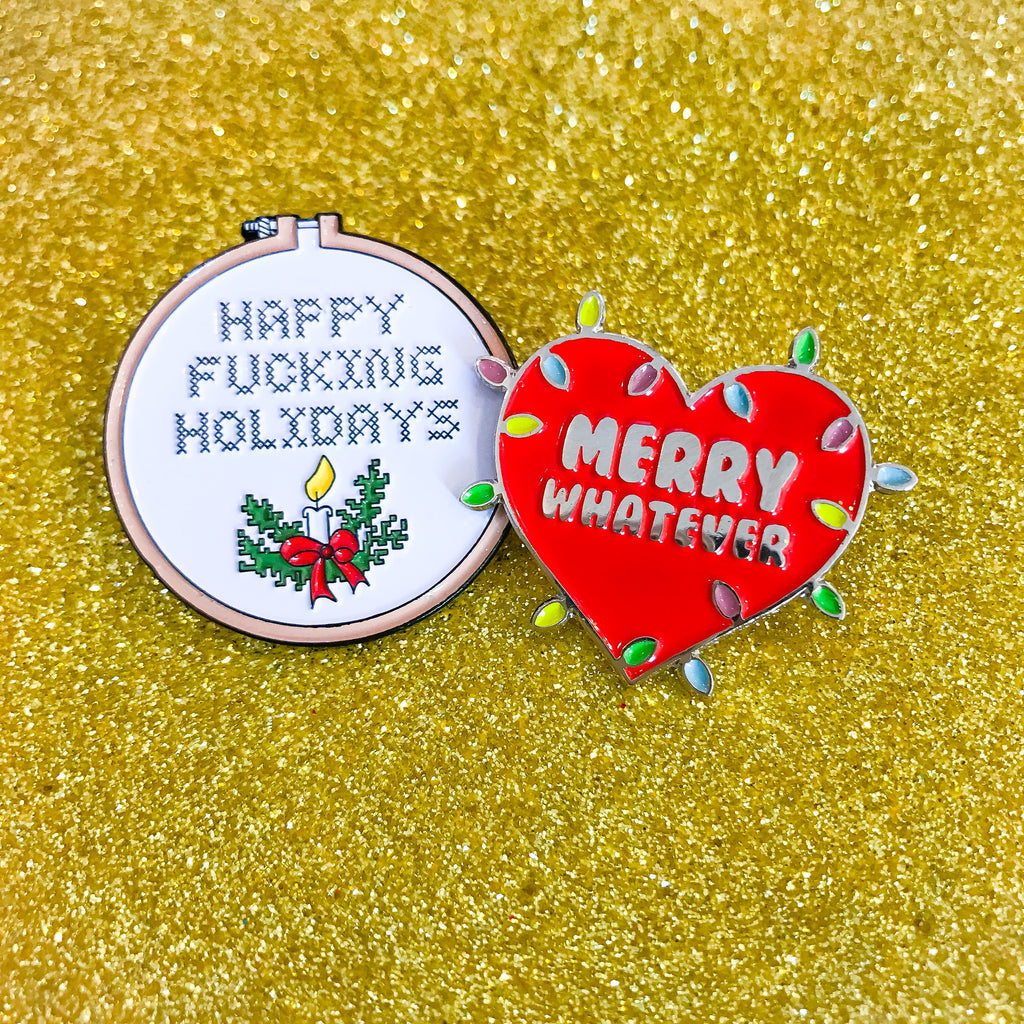 Merry Whatever Pin-Laser Kitten (8521510281)