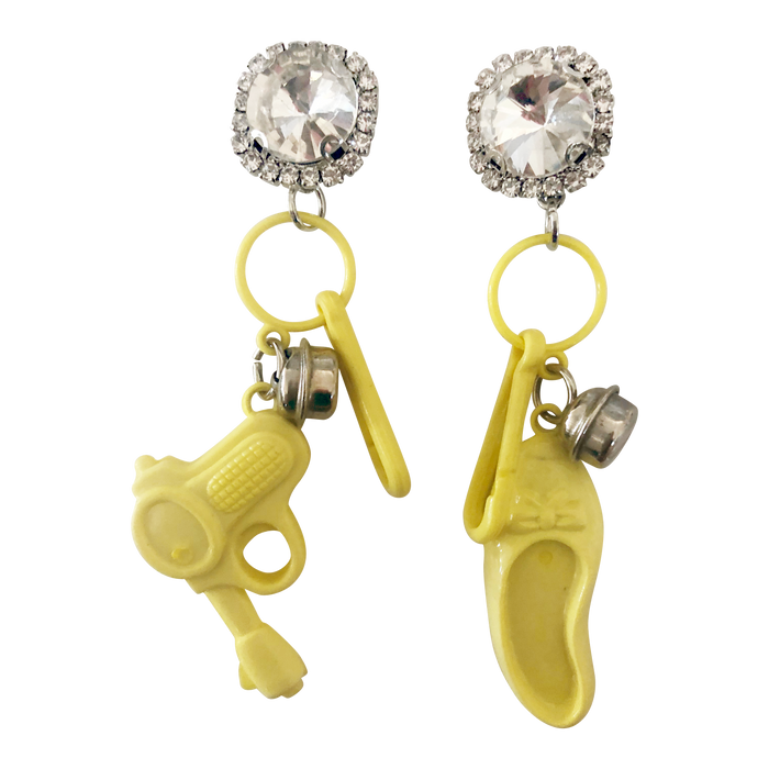 Vintage Ray Gun Charm Earrings