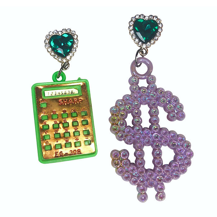 Vintage Get Money Charm Earrings (4374462693459)