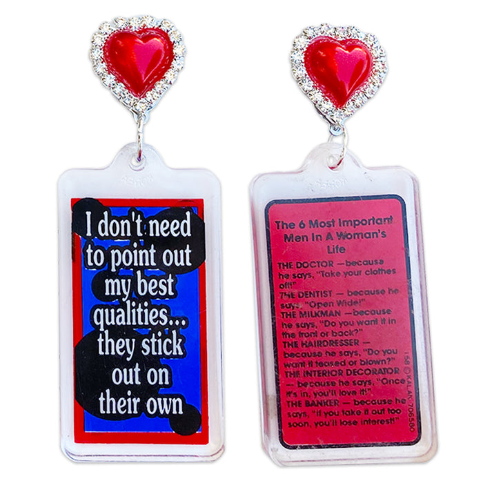 My Best Qualities 80's Keychain Earrings