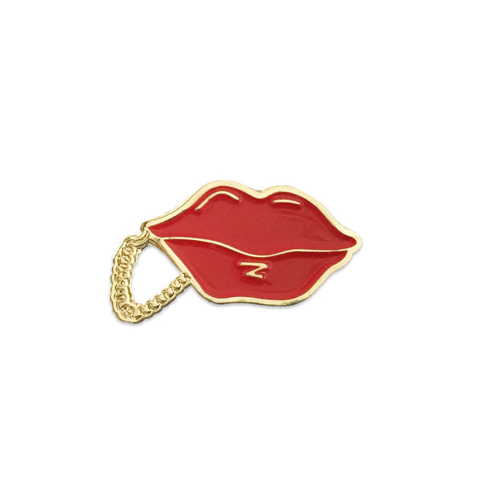 80's Lips Phone Pin - Laser Kitten