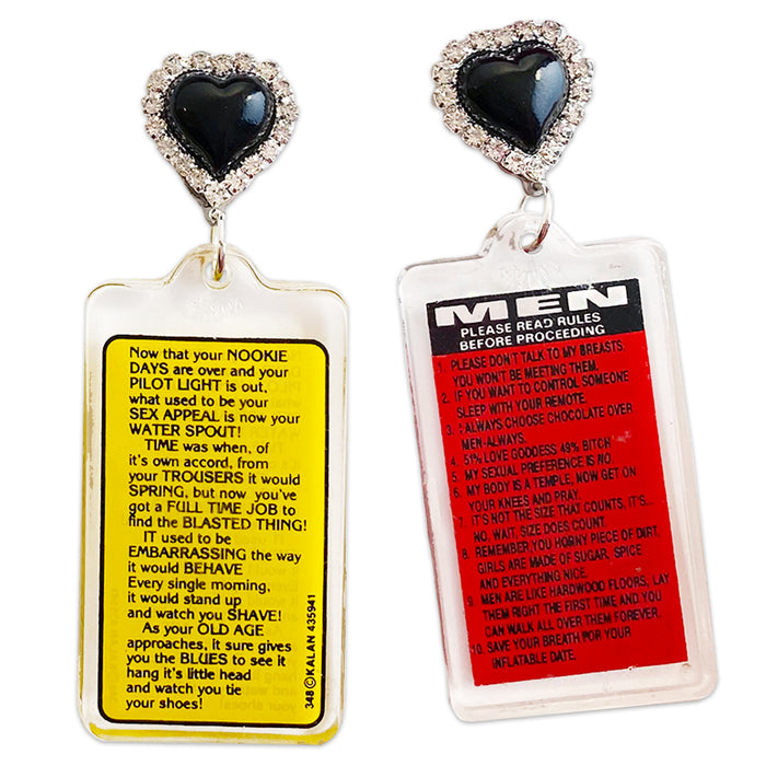 Men 80's Keychain Earrings