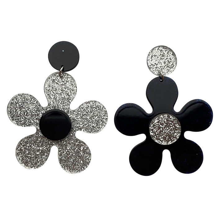 Midnight Disco Daisy Drop Earrings